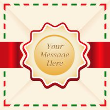 Free Christmas Or Greeting Card With Ribbon. Royalty Free Stock Photos - 27632258