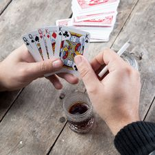 Free Card For Poker Royalty Free Stock Photography - 27634297
