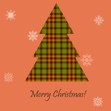 Card With A Scottish Tree Royalty Free Stock Photography
