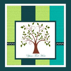 Free Card With A Tree Stock Photo - 27635130