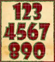 Free Christmas Numbers Stock Photography - 27635162
