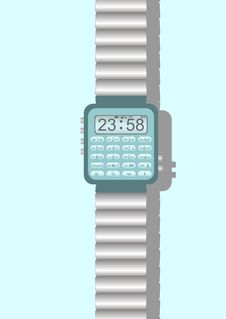 Free Digital  Clock. Royalty Free Stock Images - 27637479