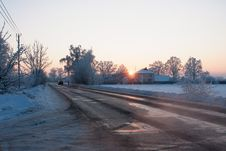 Free Snow Winter Road Stock Photography - 27638672