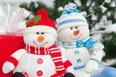 Free Handmade Snowmen Decoration Royalty Free Stock Images - 27639099