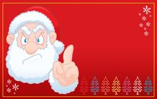 Santa Claus Says No Christmas RED Card Royalty Free Stock Image