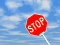 Free Stop Sign Against Blue Sky Royalty Free Stock Photography - 27640517
