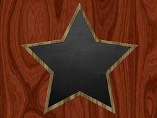 Free Star Shaped Chalkboard Royalty Free Stock Photos - 27640518