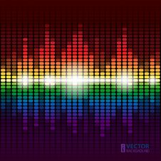 Free Rainbow Equalizer  Background Stock Images - 27642304