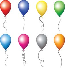 Colourful Balloons Set Royalty Free Stock Photography