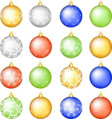 Free Christmas Baubles Set. Stock Photos - 27643813