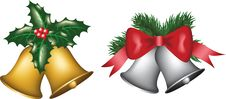 Gold And Silver Bells Stock Images