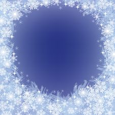 Free Christmas Frozen Background With Snowflakes Stock Photography - 27643942