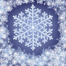 Free Christmas Frozen Background With Snowflakes Royalty Free Stock Photo - 27643955