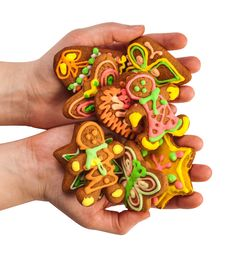 Free Gingerbread Held In The Hand Royalty Free Stock Photography - 27646057
