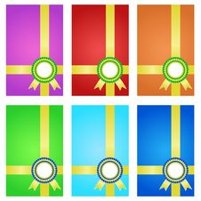 Free Award Ribbons With Banner. Stock Photography - 27647572