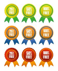 Free Award Ribbons Stock Image - 27647611
