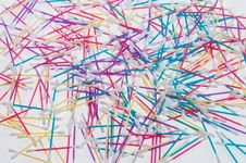 Free Colorful Q-tips Royalty Free Stock Photo - 27648685