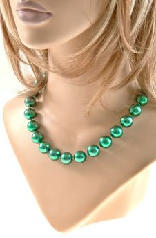 Free Large Bead Necklace Stock Photography - 27648742