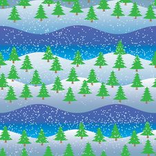 Free Background, Seamless Pattern, Spruce Forest Stock Photos - 27649513