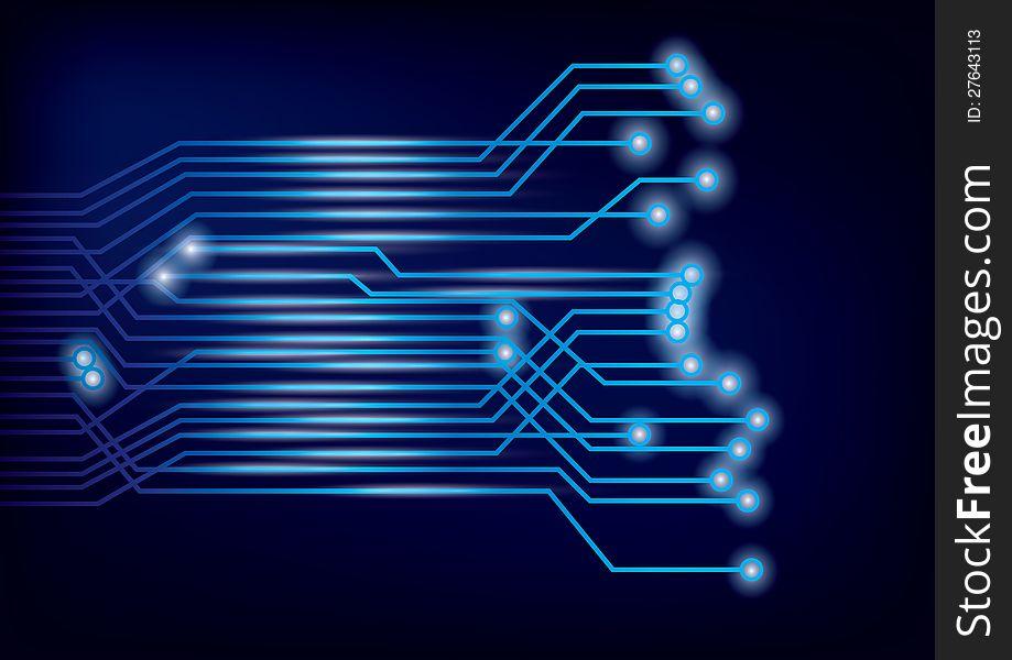 Vector Circuit Board background