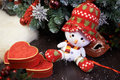 Free Snowman And Gifts Stock Image - 27655331