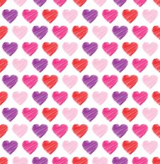 Free Valentine Seamless Hearts Pattern In Vector Royalty Free Stock Photography - 27655287