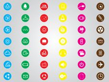 Free Universal Icons For Web And Mobile Stock Image - 27655291