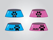 Free Male And Female Dog Bowls, Vector Stock Photos - 27655303