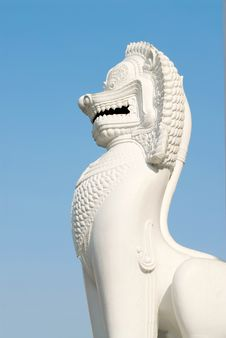 Singha Statue Stock Photo