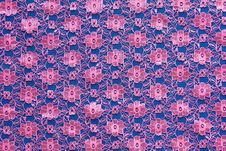 Free Pink Floral Woven Fabric Thailand. Stock Photo - 27658210