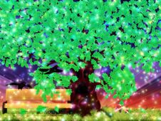 Free Fantasy Oak Tree With Ravens Royalty Free Stock Photography - 27658527