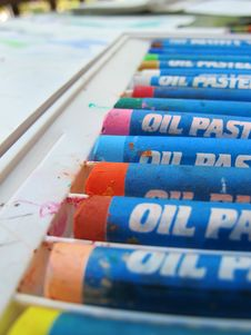 Free Oil Pastels 2 Royalty Free Stock Image - 27659406