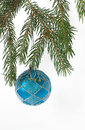 Free Christmas Ball On A Branch Of Christmas Tree Royalty Free Stock Photos - 27662758