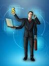 Free Multi-tasking Businessman Royalty Free Stock Images - 27664909