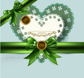 Free Elegant Vintage Card With Bow, Ribbon Royalty Free Stock Images - 27666409