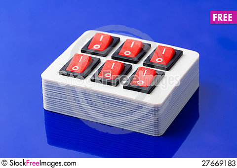 Free On-off Buttons Box Stock Photos - 27669183