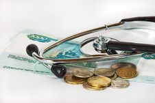 Free Stethoscope And Money Royalty Free Stock Photo - 27661815