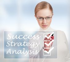 Concept Of Success And Business Woman Stock Image