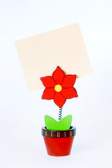 Free Business Card Holder In The Form Of A Flower Royalty Free Stock Photography - 27661887
