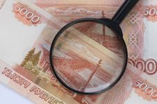 Free Magnifier On Banknotes Royalty Free Stock Images - 27662849