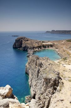 St Paul S Bay At Lindos, Rhodes Greece Royalty Free Stock Image