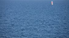 Lonely Sailing Boat Stock Photo