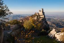 Free Castle Of San Marino Royalty Free Stock Photo - 27665675