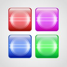 Free Vector Buttons Set. Stock Photography - 27665952