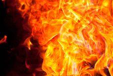 Free Big Flames On Black Stock Photos - 27666163