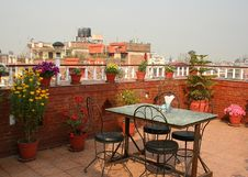 Free A Nice Place For A Breakfast On A Roof, Kathmandu Stock Image - 27666311