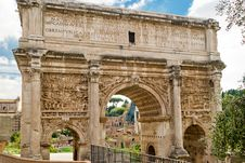 Arch Of Emperor Septimius Severus In Rome Royalty Free Stock Image