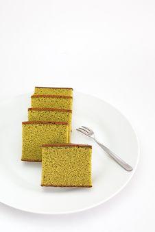 Free Sponge Cake , Green Tea Stock Image - 27668521