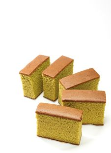 Free Sponge Cake , Green Tea Stock Photography - 27668522