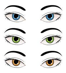 Free Female Eyes Illustration Stock Photography - 27668902
